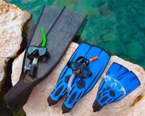 מסיכה סנפירים שנורקל - צלילה חופשית לכולם - ישראל - אבידג