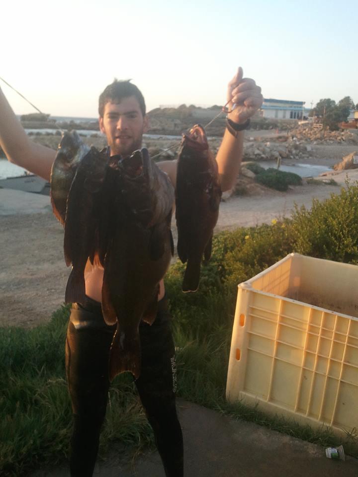 גרישה אחרי צלילת דייג מוצלחת
